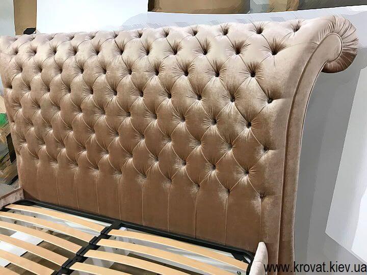 двуспальная кровать Италия с большой спинкой на заказ