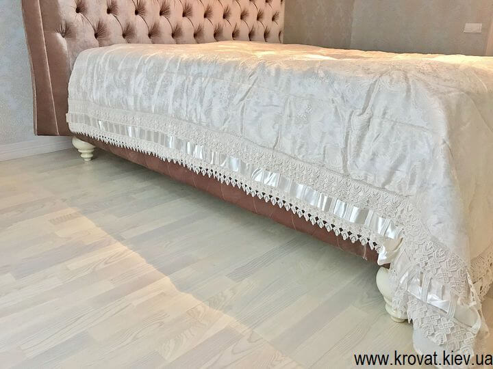 двоспальне ліжко Італія з гудзиками на замовлення