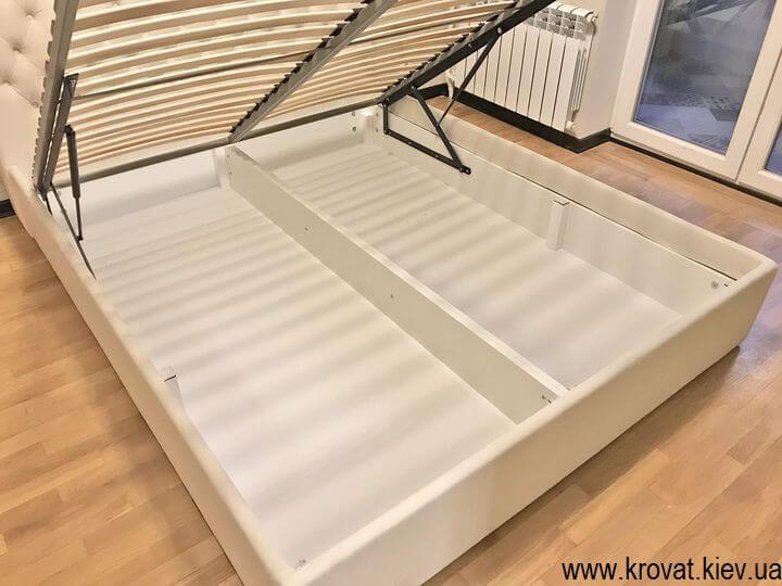 кровать без изножья с нишей для белья на заказ