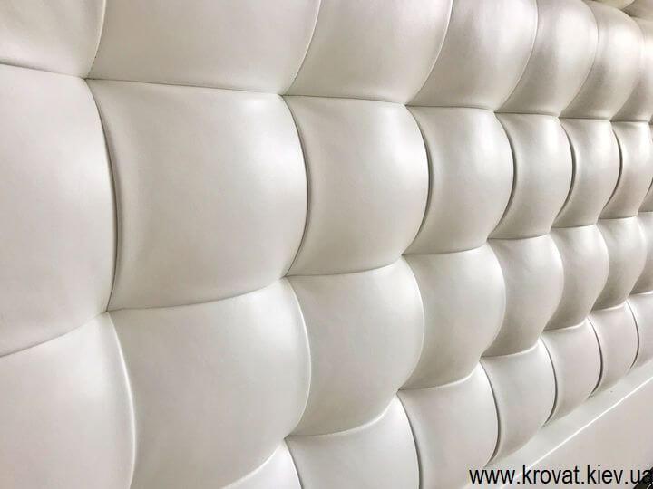 мягкая стеновая панель для кровати на заказ