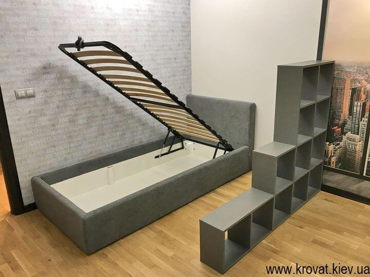 підліткове ліжко в інтер'єрі спальні на замовлення