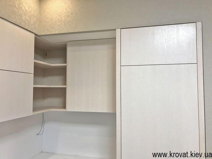 кухня с встроенным холодильником на заказ