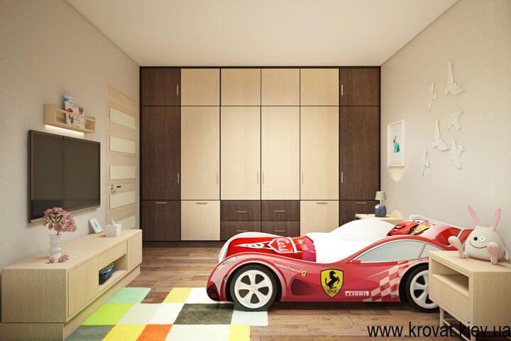 дизайн детской спальни со встроенным шкафом
