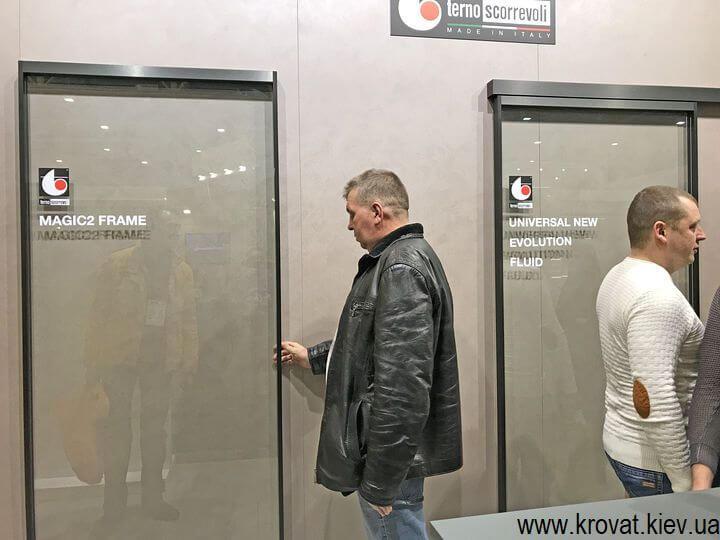 раздвижные системы Terno Scorrevoli на выставке мебели