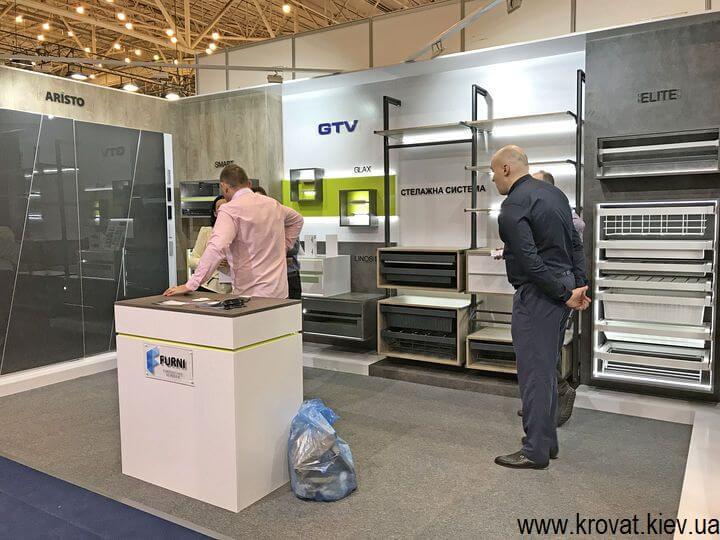 гардеробные системы на выставке мебели в Киеве