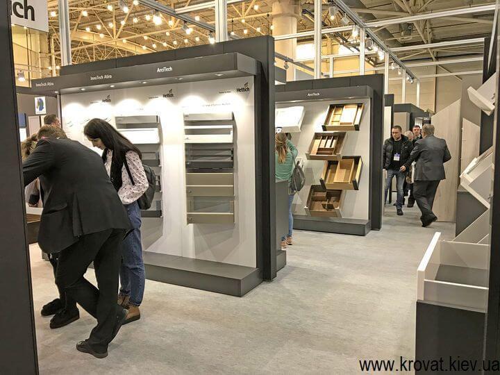 немецкая фурнитура на выставке мебели в Киеве