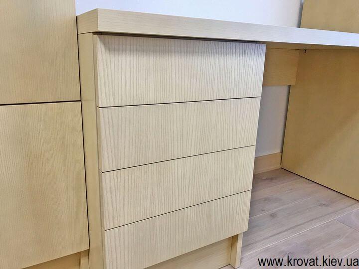 компьютерный шпонированный стол в детскую на заказ