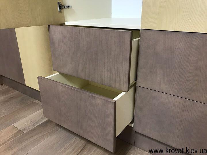 шафа з ящиками в спальню на замовлення