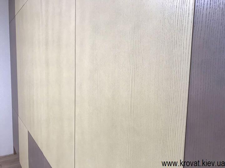 шкаф с фасадами из шпона на заказ