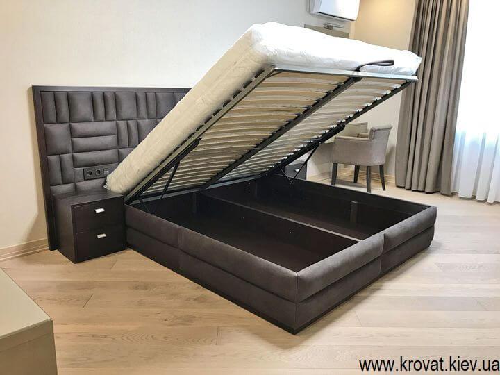 большая кровать с подъемным механизмом на заказ