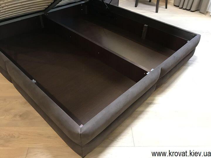кровать с большой нишей для белья на заказ