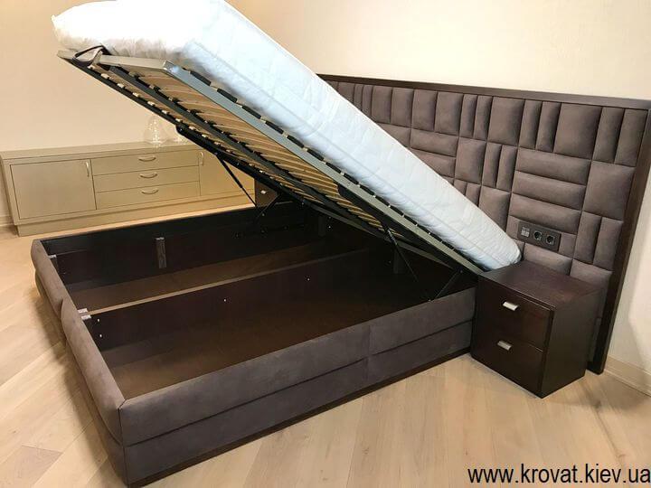 кровать в спальню с подъемным механизмом на заказ