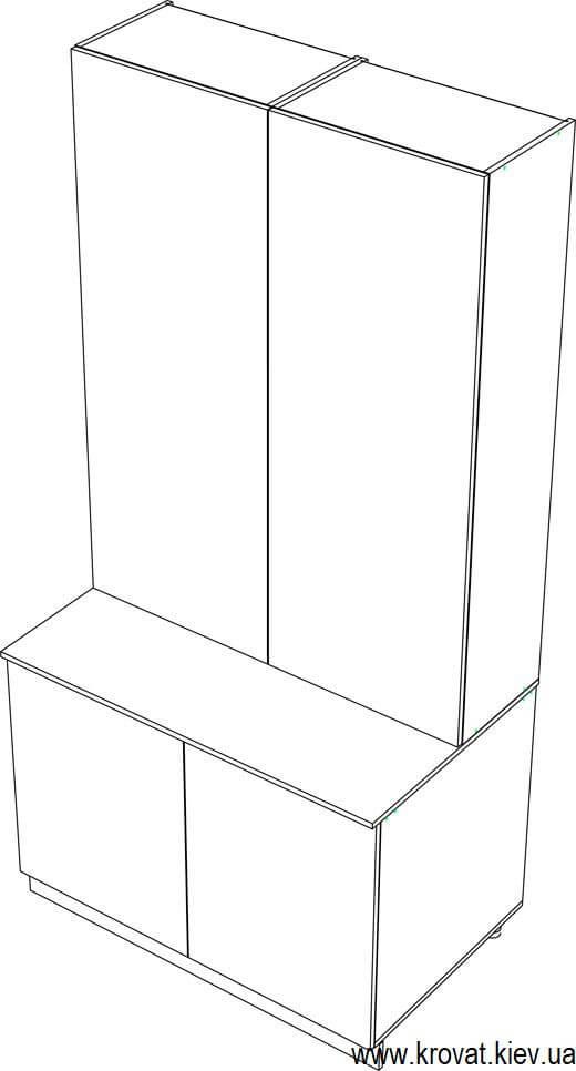 проект нестандартного шкафа для балкона