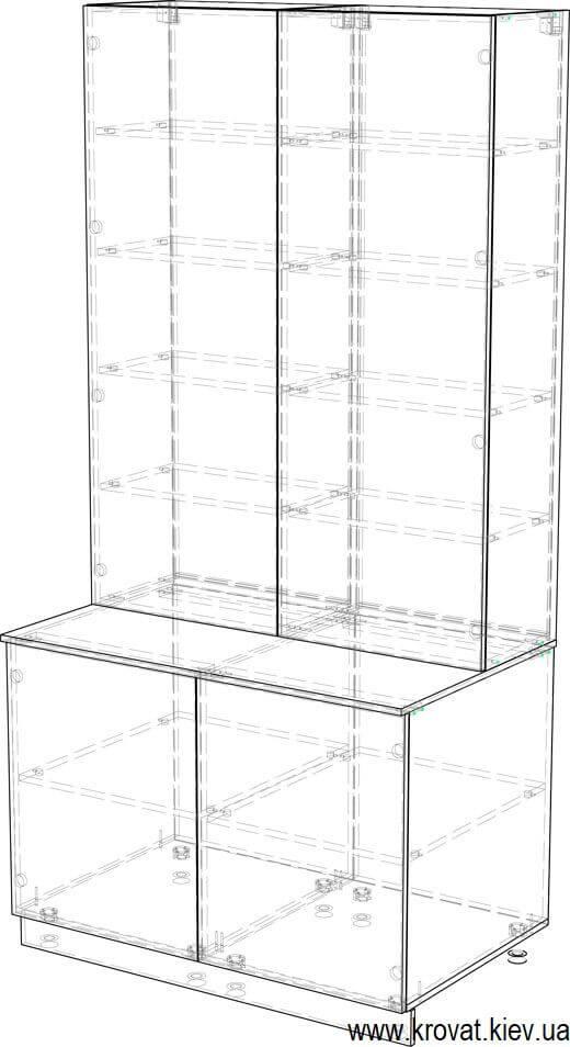 чертеж нестандартного шкафа для балкона