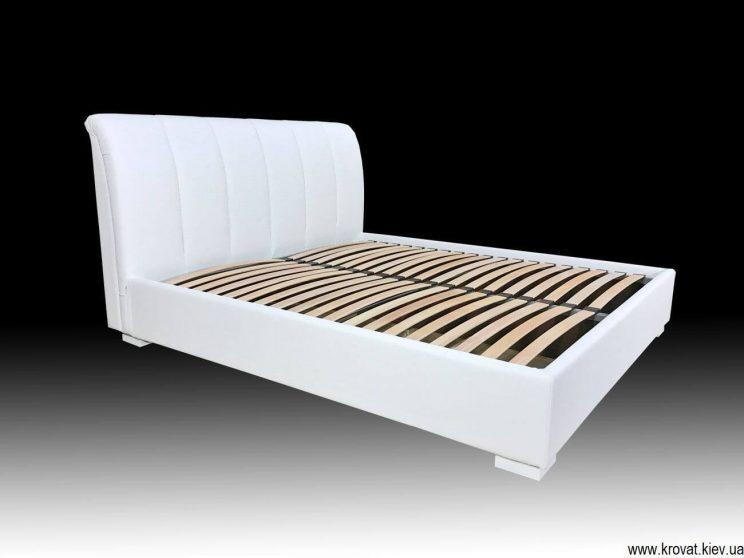 кровати на заказ с кожаным изголовьем