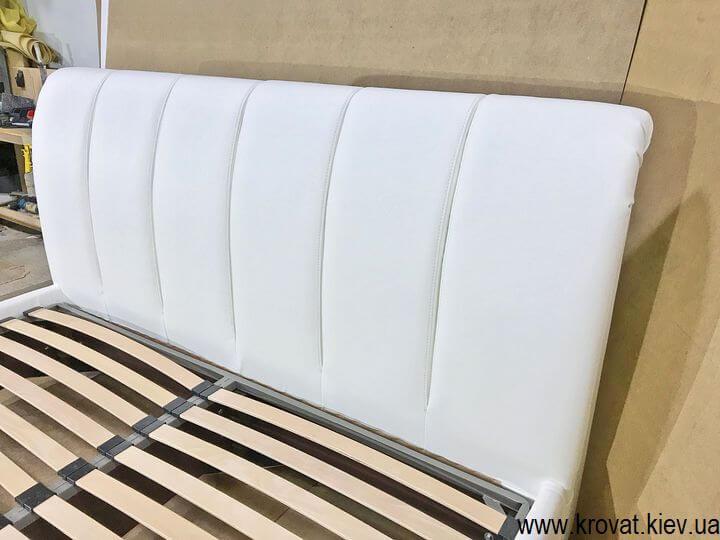 кожаная кровать на заказ