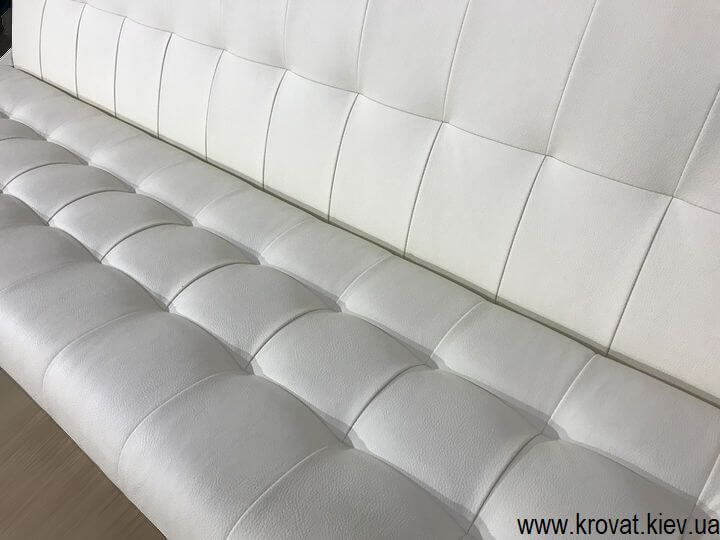 кухонный диван из кожзама на заказ