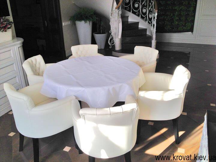 білі крісла для кухні на замовлення