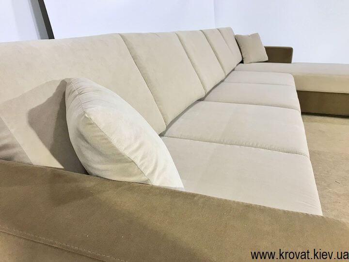 большой угловой диван со спальным местом на заказ