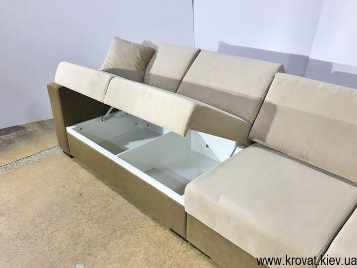 угловой диван с ящиком на заказ