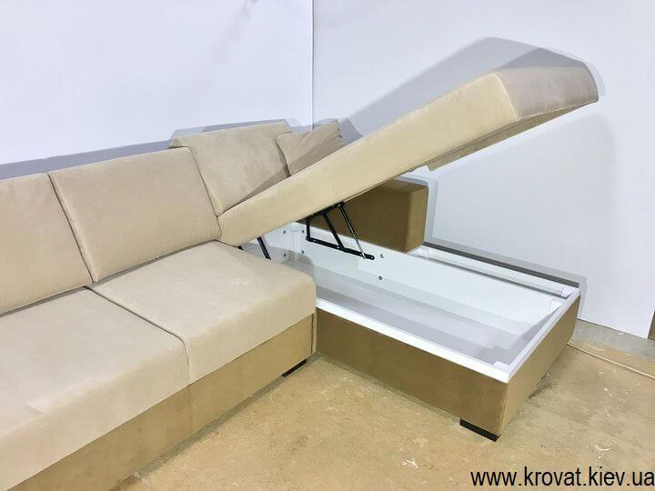 угловой диван с нишей на заказ