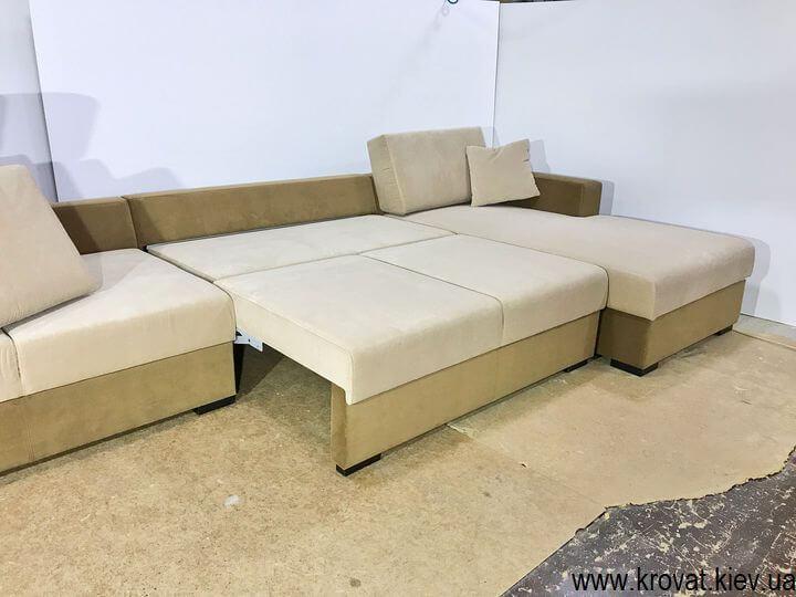раскладной угловой диван с механизмом пума на заказ