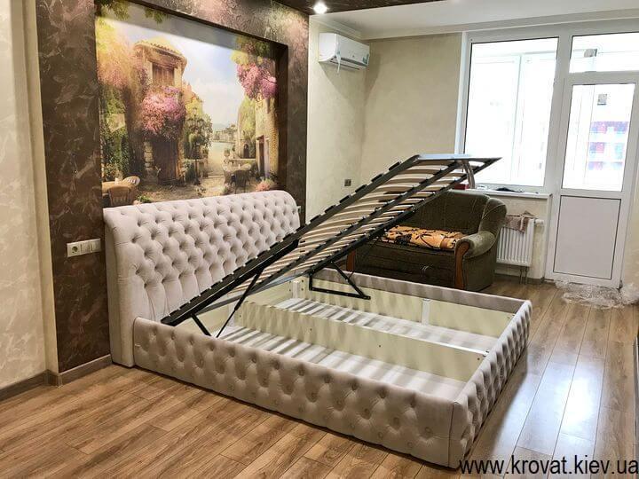двуспальная кровать с подъемным механизмом на заказ