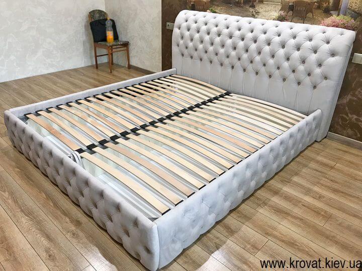 двуспальная кровать с мягким изголовьем на заказ