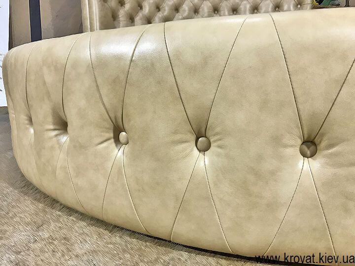 круглая кровать с капитоне на заказ