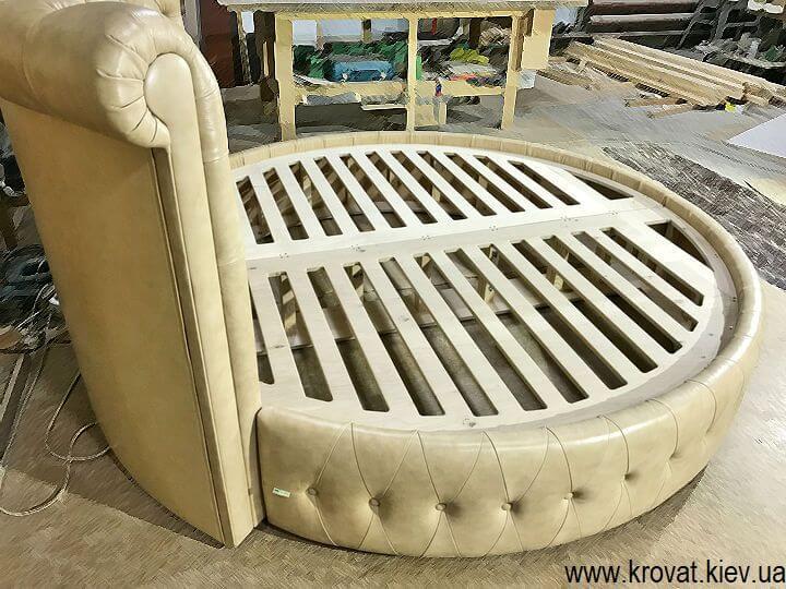 круглая кровать в спальню на заказ