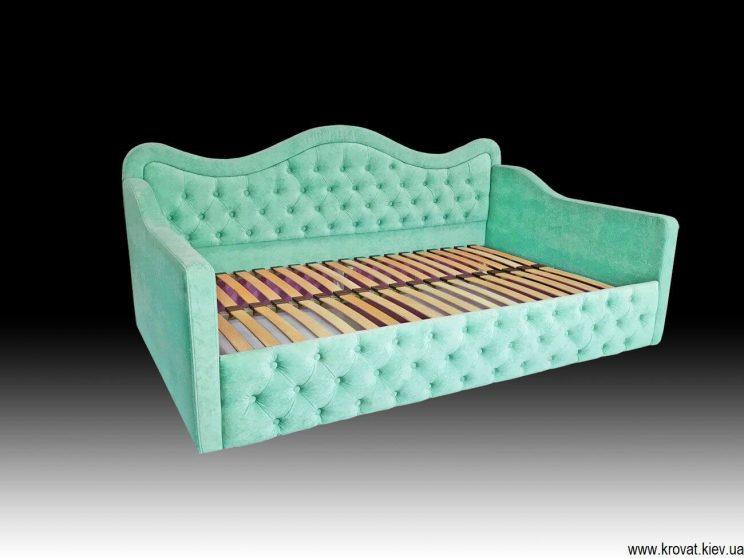 зеленая кровать для девочки на заказ