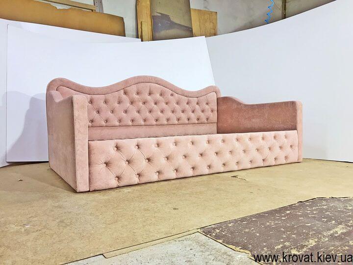 кровать для девочки с нишей для белья на заказ