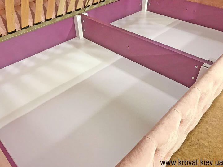 кровать для девочки с ящиком для белья на заказ