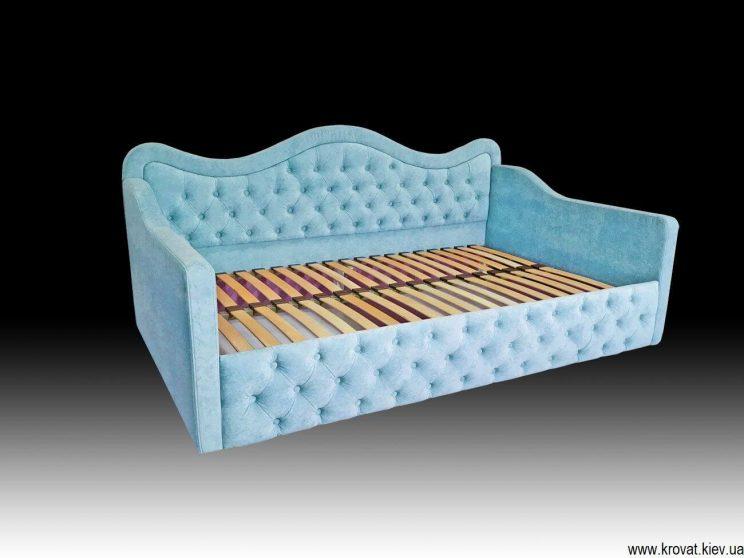 голубая кровать для девочки на заказ