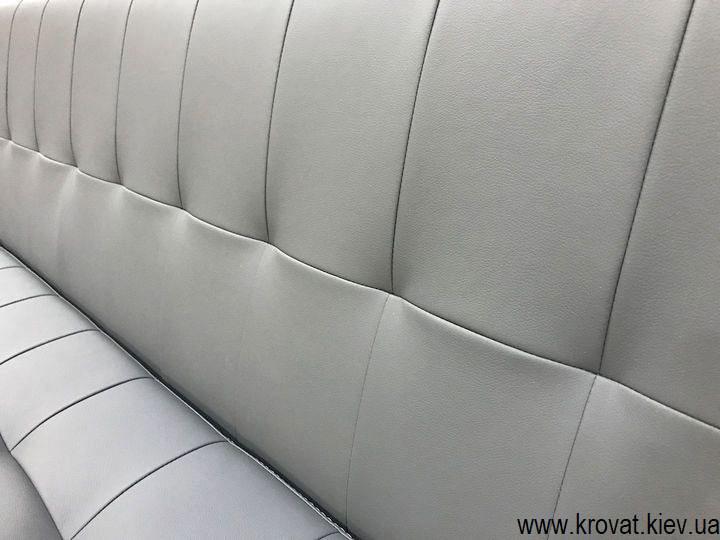 прямий диван для кухні зі шкірозамінника на замовлення