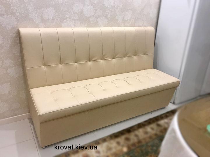 кожаный диван на кухню под заказ