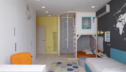 3D проект спальни для мальчика