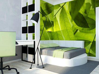 3d проект спальни с кроватью