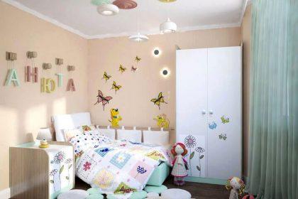 3D проект спальни для девочки