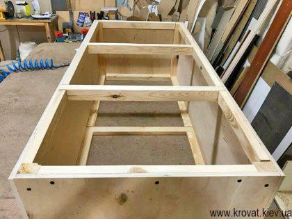 основа кухонного уголка в виде пуфа из фанеры