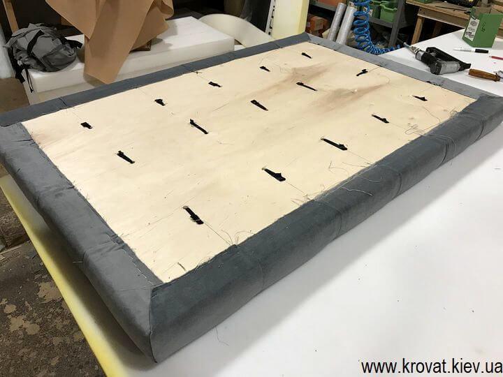 изготовление мягкой стеновой панели для уголка на кухню
