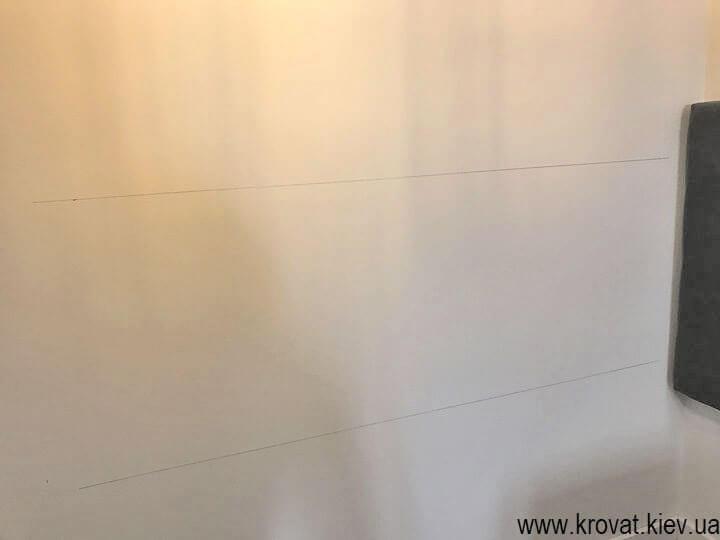 разметка стены под мягкую стеновую панель