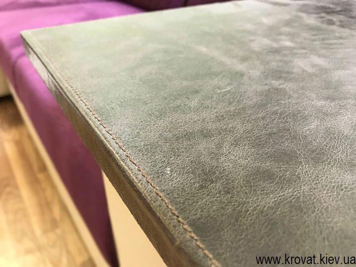 фасады в коже для мебели на заказ