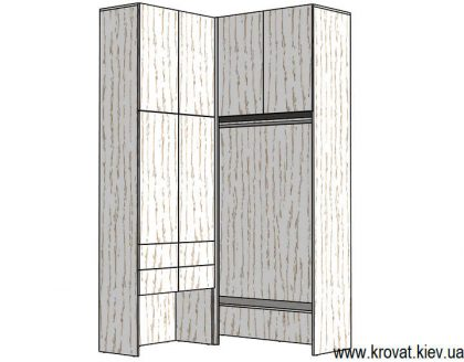 проект маленькой гардеробной комнаты