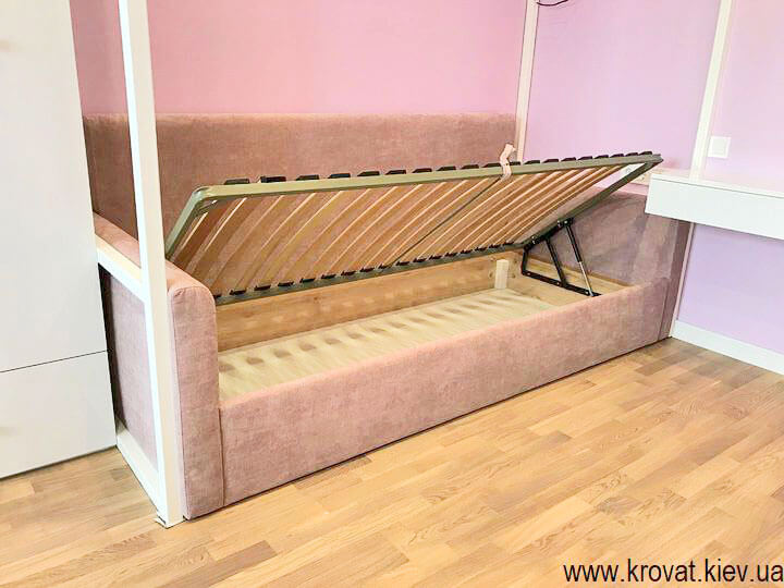 кровать для девочки с подъемным механизмом на заказ