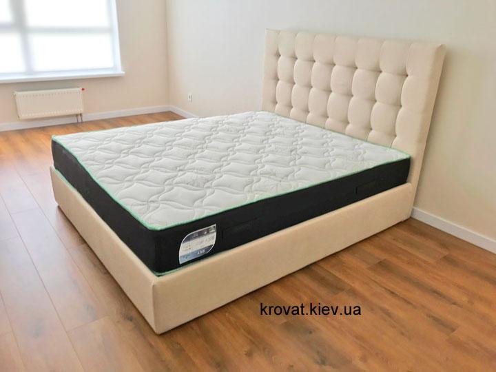 кровать в интерьере спальни на заказ