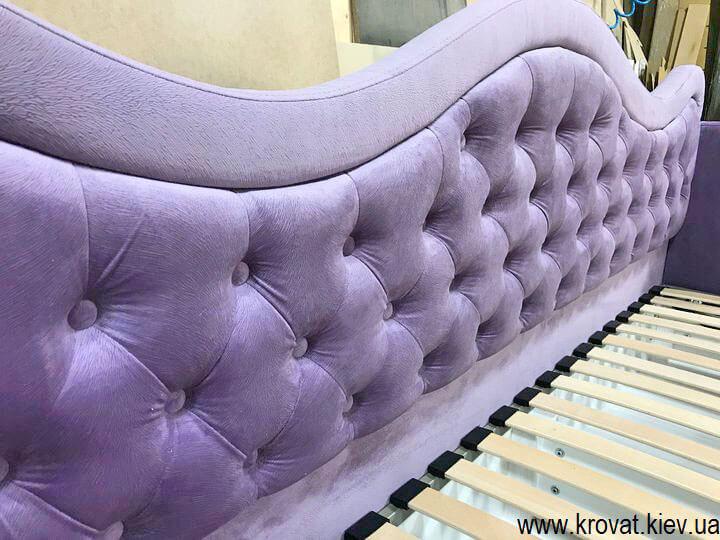 кровать для девочки с каретной стяжкой на заказ