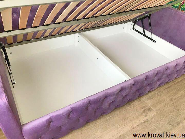 ліжко для дівчинки з ящиком для білизни