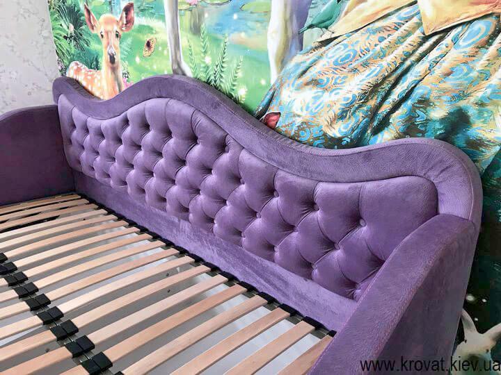 ліжко для дівчинки в інтер'єрі спальні