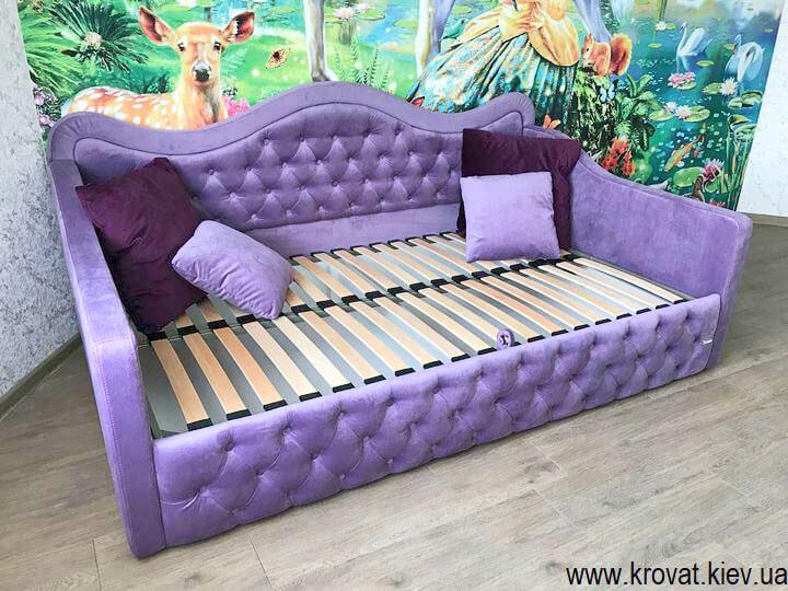 підліткове ліжко для дівчинки в інтер'єрі спальні